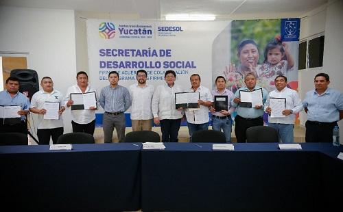 La Sedesol y el IVEY beneficiarán a decenas de familias yucatecas con el programa