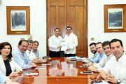 Mauricio Vila escucha propuestas de la Coparmex, para crear el Plan de Desarrollo 2018-2024