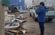 Julián Zacarías apoya a los damnificados tras el paso del fuerte norte