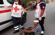 Un viejito ebrio pierde el control de su triciclo, vuelca y se lesiona, en Valladolid