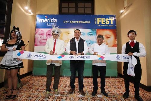 Mérida es una ciudad de rostros felices, afirma Renán Barrera