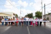 Renán Barrera entrega mejoras de vialidad en el Poniente