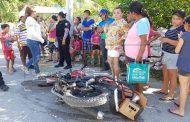 Un imprudente ciclista ocasiona un accidente, en Tetiz: hay tres lesionados