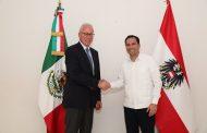 Yucatán y Austria trabajarán juntos en materia económica y cultural