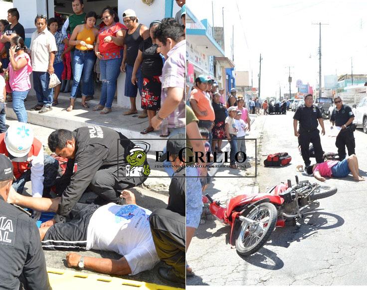 Atropella a una pareja que iba en moto, por pasarse un alto con su Mercedes Benz
