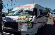 """Por ir rápido, un taxista de la ruta a Itzincab choca contra una """"plana"""""""